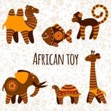 Colección grande del vector con el juguete africano Fotos de archivo libres de regalías
