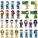 Colección grande del vector de gente de la carrera ilustración del vector
