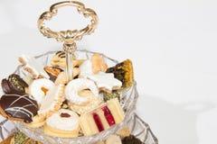 Colección hecha en casa de la galleta de la Navidad Imagenes de archivo