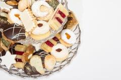 Colección hecha en casa de la galleta de la Navidad Imagen de archivo