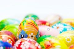 Colección hecha a mano de los huevos de Pascua La primavera modela el arte, único Imágenes de archivo libres de regalías