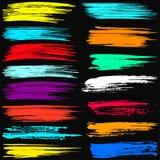 Colección hermosa coloreada de las banderas para el diseño Imágenes de archivo libres de regalías