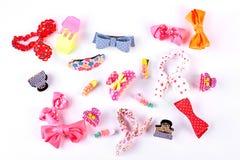Colección hermosa de accesorios del pelo de los niños Imagenes de archivo