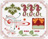 Colección histórica del diseño Imagen de archivo libre de regalías