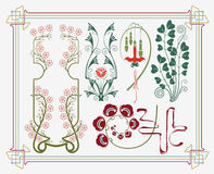 Colección histórica del diseño ilustración del vector