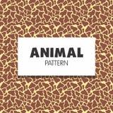 Colección inconsútil animal del modelo imagen de archivo libre de regalías