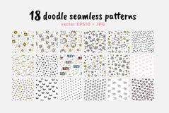 Colección inconsútil de los modelos del vector Contexto para el embalaje de las materias textiles de las muchachas de los muchach stock de ilustración