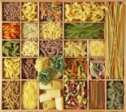 Colección italiana de las pastas Imagen de archivo