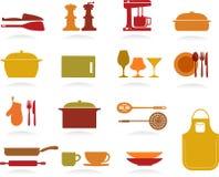 Colección linda de la cocina Imagenes de archivo