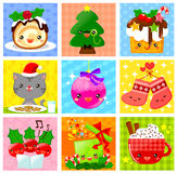 Colección linda de la Navidad Fotografía de archivo