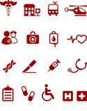 Colección médica del icono del Internet del hospital Imagenes de archivo