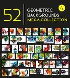 Colección mega de fondos abstractos ilustración del vector