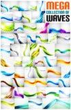 Colección mega de fondos del extracto de la onda libre illustration