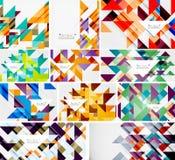 Colección mega de las plantillas del triángulo - el fondo abstracto diseña Para las banderas, fondos del negocio, presentaciones libre illustration