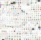 Colección mega de los logotipos abstractos de la compañía del vector Imagen de archivo