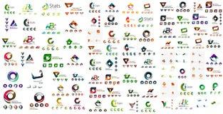 Colección mega del logotipo, negocio geométrico abstracto Imagenes de archivo