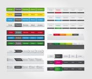 Menú de la barra del Web con el botón para el Web site Imagen de archivo libre de regalías