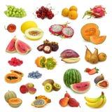 Colección mezclada de las frutas Foto de archivo libre de regalías