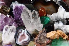Colección mineral fotos de archivo