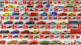 Colección miniatura de los coches del juguete Imagen de archivo libre de regalías