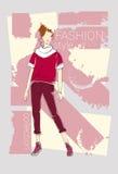 Colección modelo femenina de Wear Fashion Clothes Foto de archivo libre de regalías