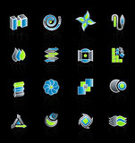 Colección moderna 2 de la insignia de la compañía Foto de archivo libre de regalías