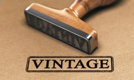 Colección o estilo del vintage Sello de goma Foto de archivo