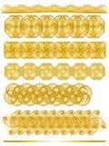 Colección ornamental de oro elegante del ajuste stock de ilustración