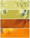Colección otoñal de las banderas stock de ilustración