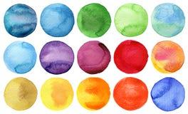 Colección pintada a mano de los círculos de la acuarela libre illustration