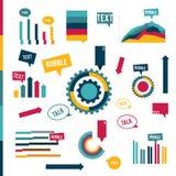 Colección plana de Infographic simplemente de elementos para la impresión o la página web stock de ilustración