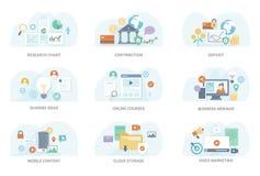 Colección plana del ejemplo del negocio libre illustration