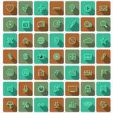 Colección plana moderna del vector de los iconos Fotografía de archivo