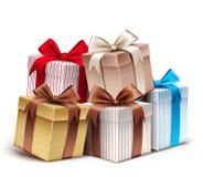 Colección realista 3D de caja de regalo colorida del modelo Fotos de archivo libres de regalías