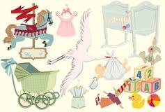 Colección retra del bebé Fotografía de archivo libre de regalías