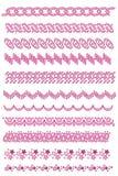 Colección rosada del ajuste stock de ilustración
