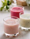 Colección sana de los smoothies Foto de archivo