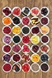 Colección sana grande de la comida Fotografía de archivo libre de regalías