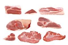 Colección sin procesar de la carne fresca Imagenes de archivo