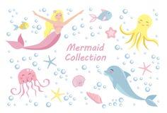 Colección subacuática del mundo ilustración del vector