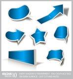 Colección superior de burbujas del discurso del diseño Imagen de archivo libre de regalías