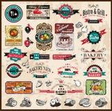 Colección superior de la calidad de escrituras de la etiqueta de la vendimia Imágenes de archivo libres de regalías