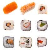 Colección superior del sushi Imagen de archivo