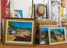 Colección valiosa de las pinturas Fotos de archivo libres de regalías