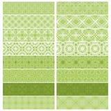 Colección verde del ajuste o de la frontera stock de ilustración