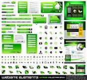 Colección verde del extremo de los elementos del diseño de Web