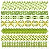 Colección verde y marrón del ajuste o de la frontera ilustración del vector