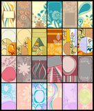Colección vertical de las tarjetas de visita Fotos de archivo
