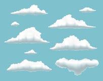 Colección volumétrica de las nubes libre illustration