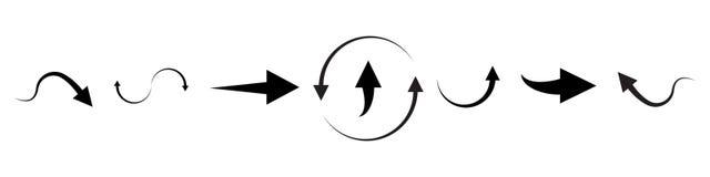 Colecci?n del vector de las flechas con estilo elegante y color negro Ilustraci?n del vector libre illustration